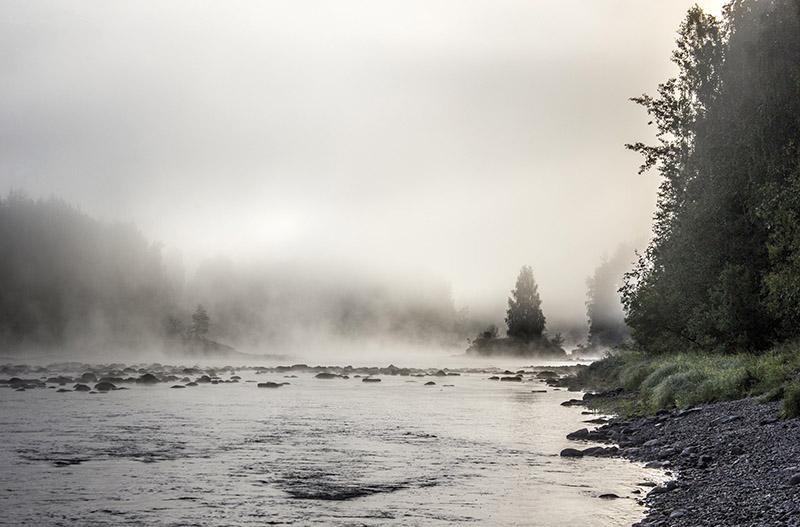 Шуйский порог в тумане